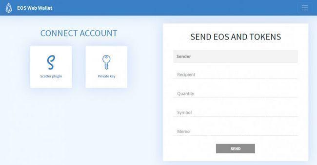 Для блокчейна eos появился криптовалютный онлайн-кошелек eoswebwallet.io