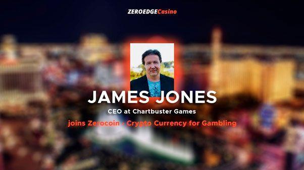Джеймс джонс (ceo проекта chartbuster games) присоединяется к zerocoin