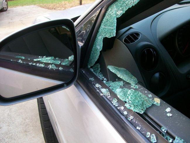 Как разбить стекло?