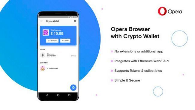 Новая версия браузера opera будет со встроенным криптовалютным кошельком