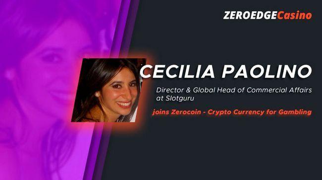 Сесилия паолино-уболди присоединяется к zerocoin (криптовалюта для онлайн казино)