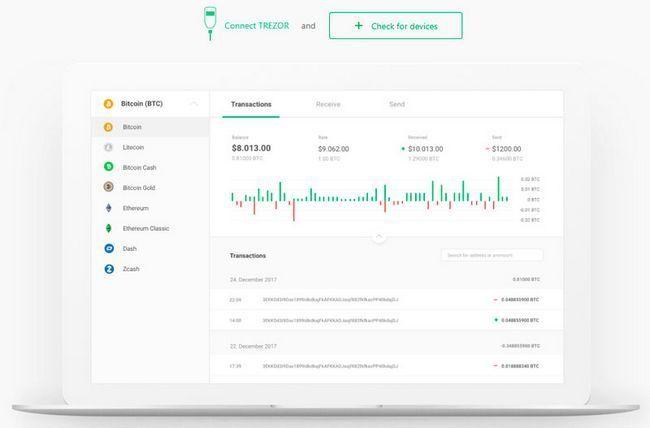 Тестовая версия по для аппаратного кошелька trezor позволяет обменивать криптовалюты
